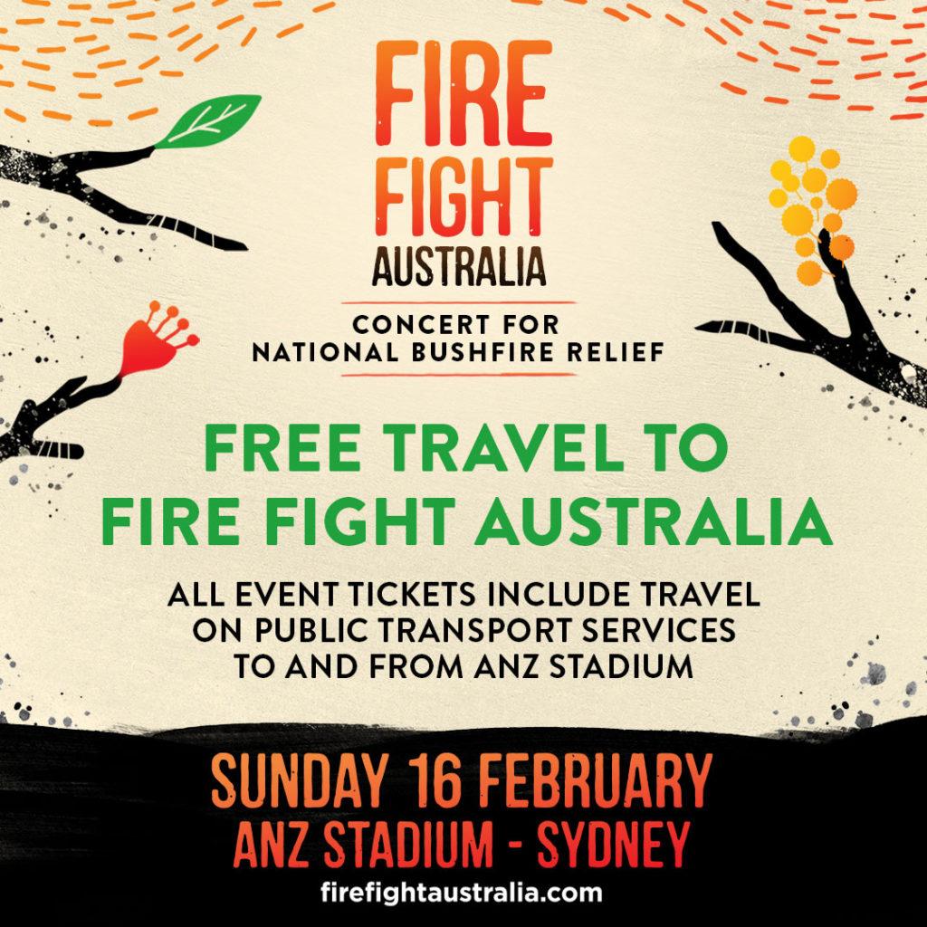 """オーストラリア森林火災チャリティー・コンサート""""Fire Fight Australia""""の概要"""