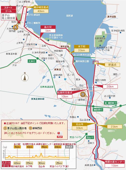 琵琶湖 マラソン コース